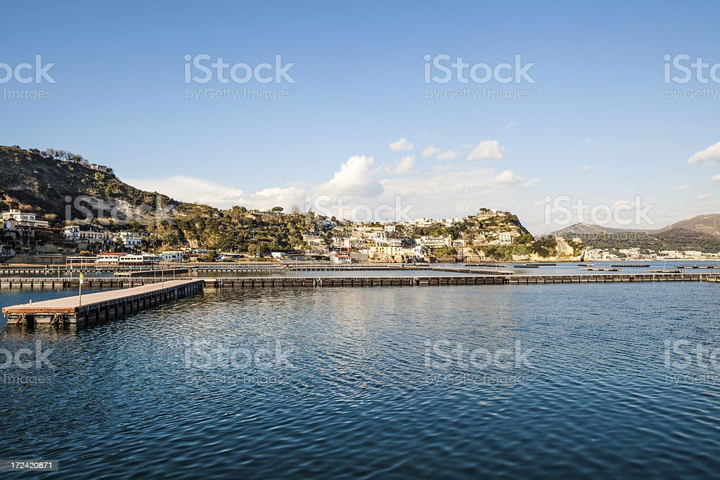 Baia Town in bay of Naples, Italy royalty-free stock photo