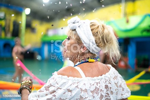 1016084100istockphoto Baiana (traditional northeast brazilian woman) celebrating and dancing brazilian carnival at school carnival 1204633996