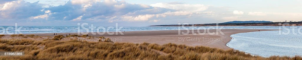 Baie de Somme, Le Touquet, France. stock photo
