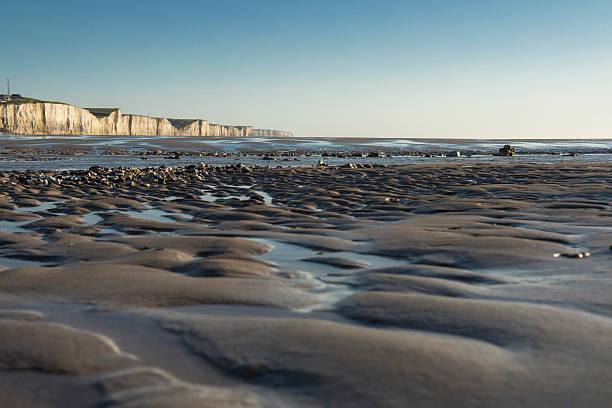 Baie de somme Plage avec falaise en baie de somme somme stock pictures, royalty-free photos & images