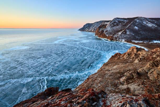 Baikal lake stock photo