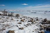 Ice road on Baikal