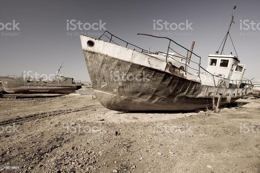 Baikal Shipwreck royalty-free stock photo