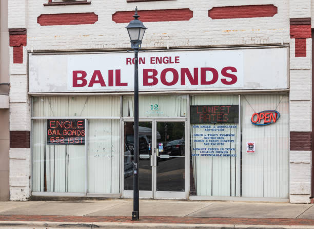Bail Bonds office exterior stock photo