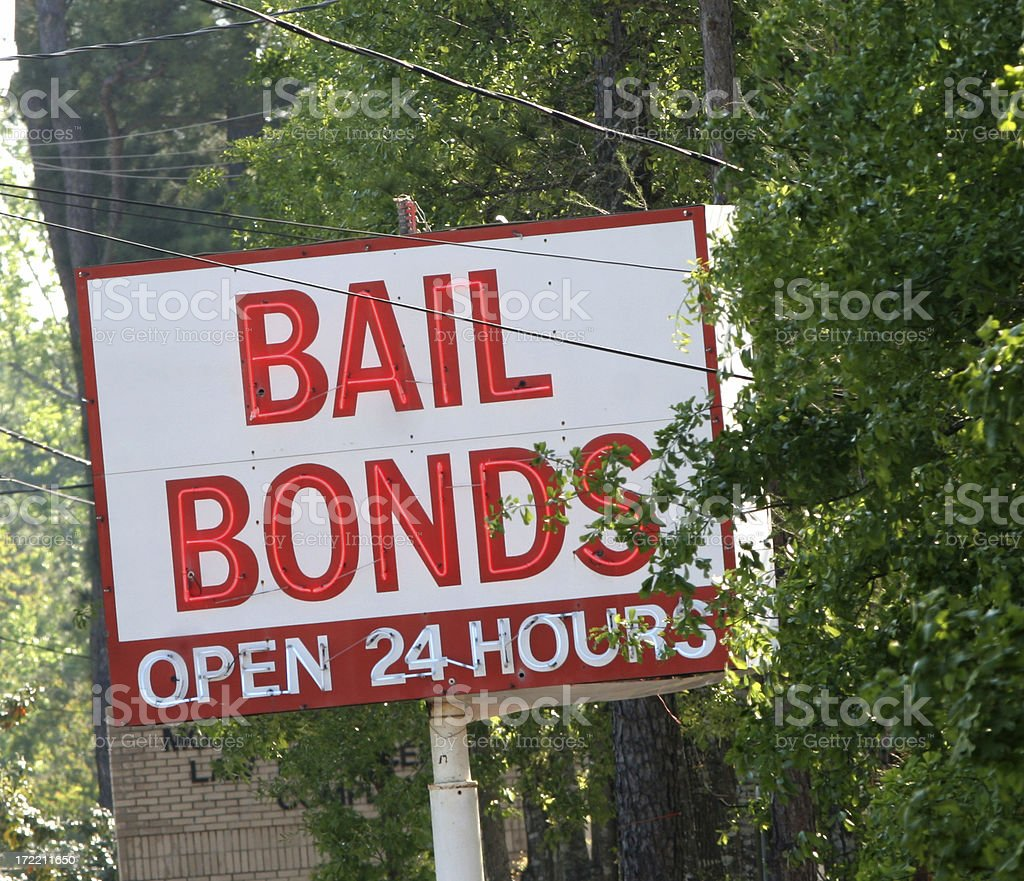 Bail Bonds stock photo