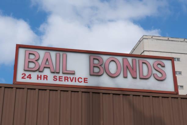 Bail Bonds Sign stock photo