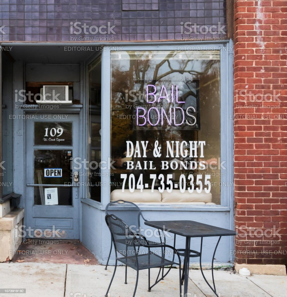 Bail Bondsman Office stock photo
