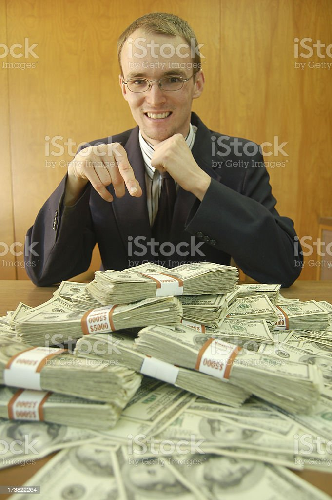 Bailout Excitement royalty-free stock photo