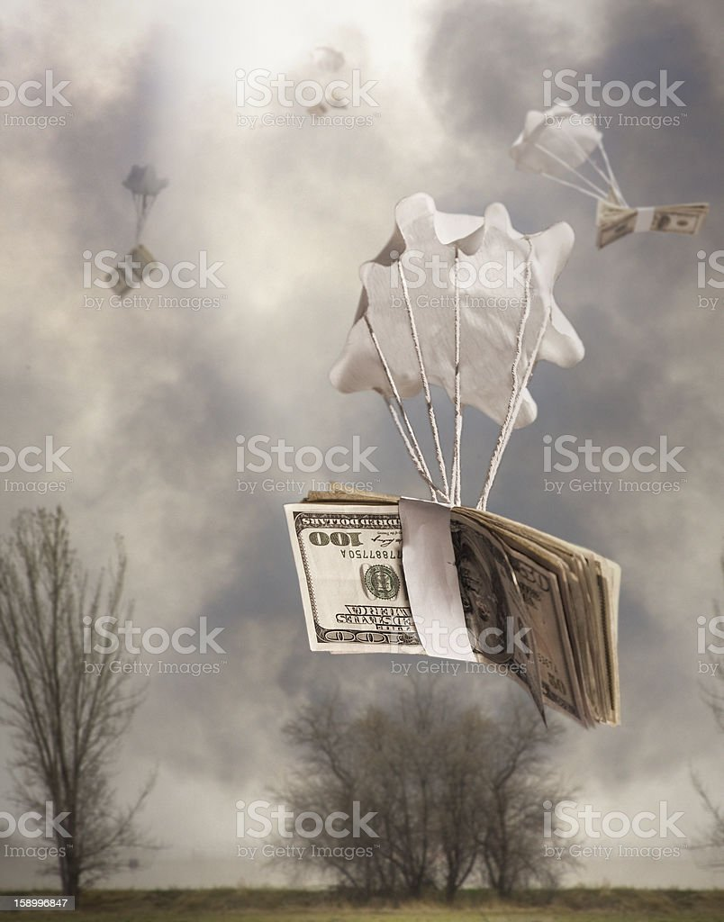 Bailout Money Dark royalty-free stock photo
