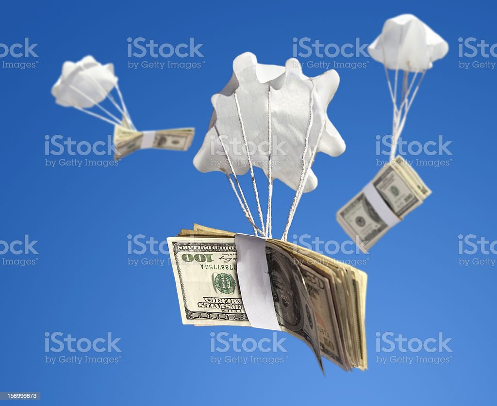 Bailout Money royalty-free stock photo
