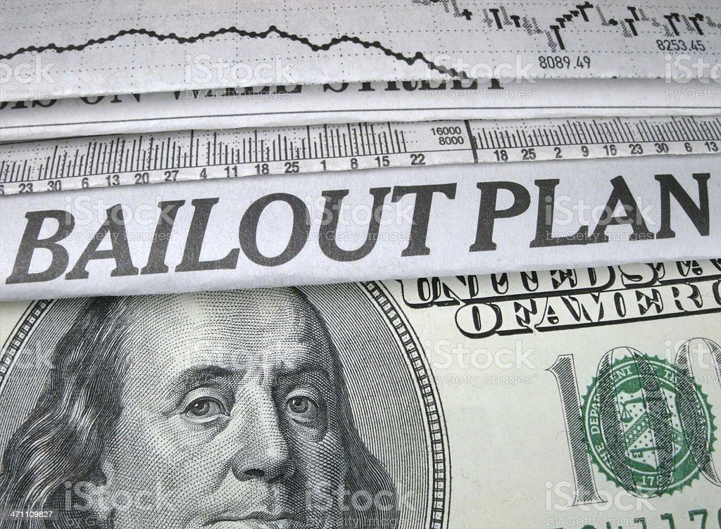 Bailout Plan stock photo