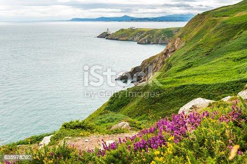 Baily Lighthouse in Howth peninsula, Co. Dublin, Republic of Ireland