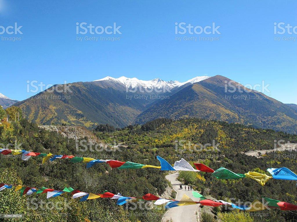Baimang or Baima (White horse) Snow Mountain, Shangri-La, Yunnan, China stock photo