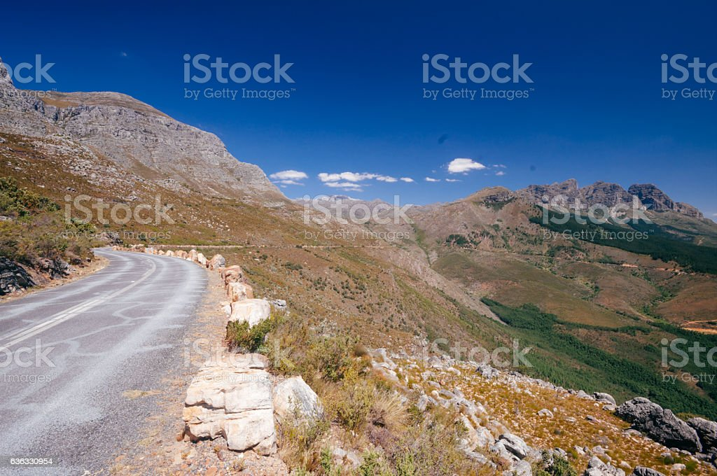 Bains Kloof Pass, Western Cape, South Africa stock photo