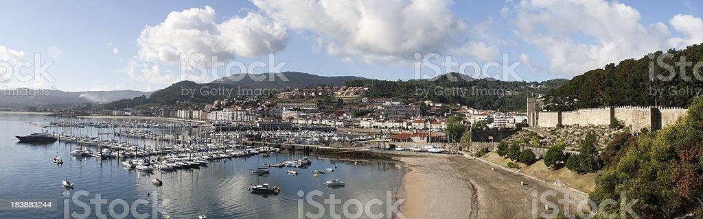 Baiona Bay   Galicia (Spain) stock photo
