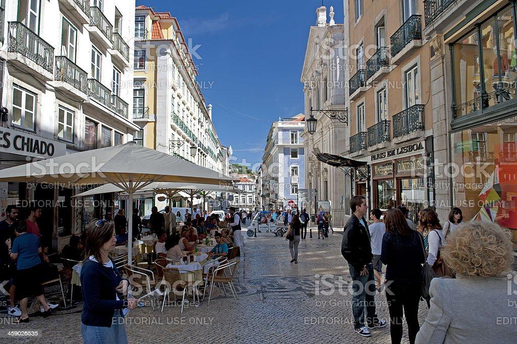 Bairro Alto, Lisbon stock photo