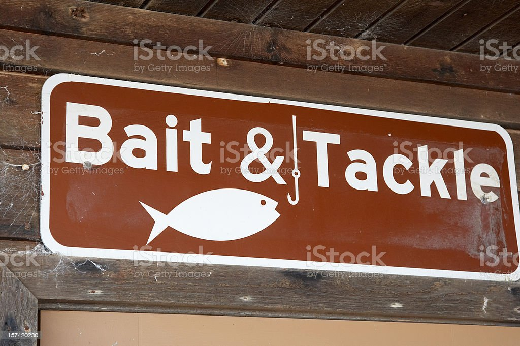 Bait and tackle sign royalty-free stock photo