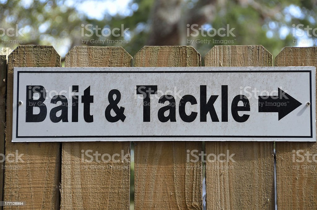 Bait and Tackle Sign stock photo