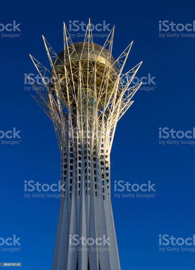 Baiterek tower against the sky, Landmark, Astana, Kazakhstan stock photo