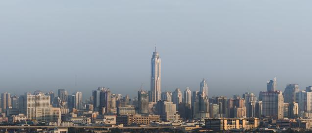 istock Baiyok tower at Bangkok city, Thailand background 925239258