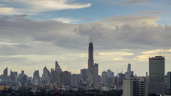 istock Baiyoke tower II the tallest hotel in thailand, Bangkok cityscape 638645538