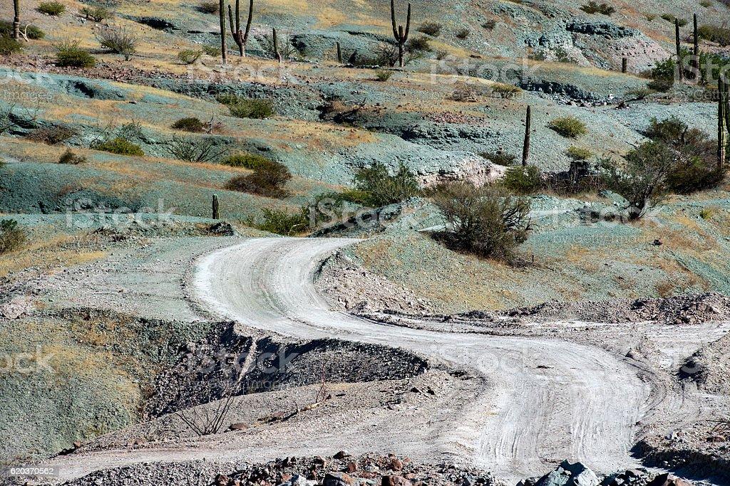 baja california landscape panorama desert road zbiór zdjęć royalty-free