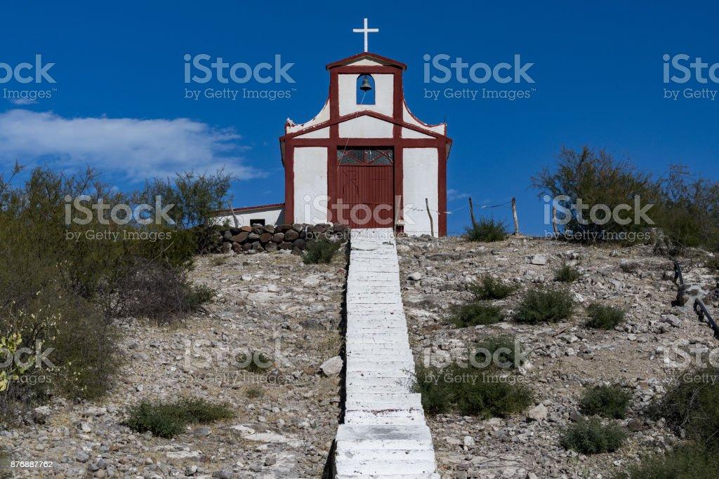 Iglesia desierto de baja california sur México - foto de stock