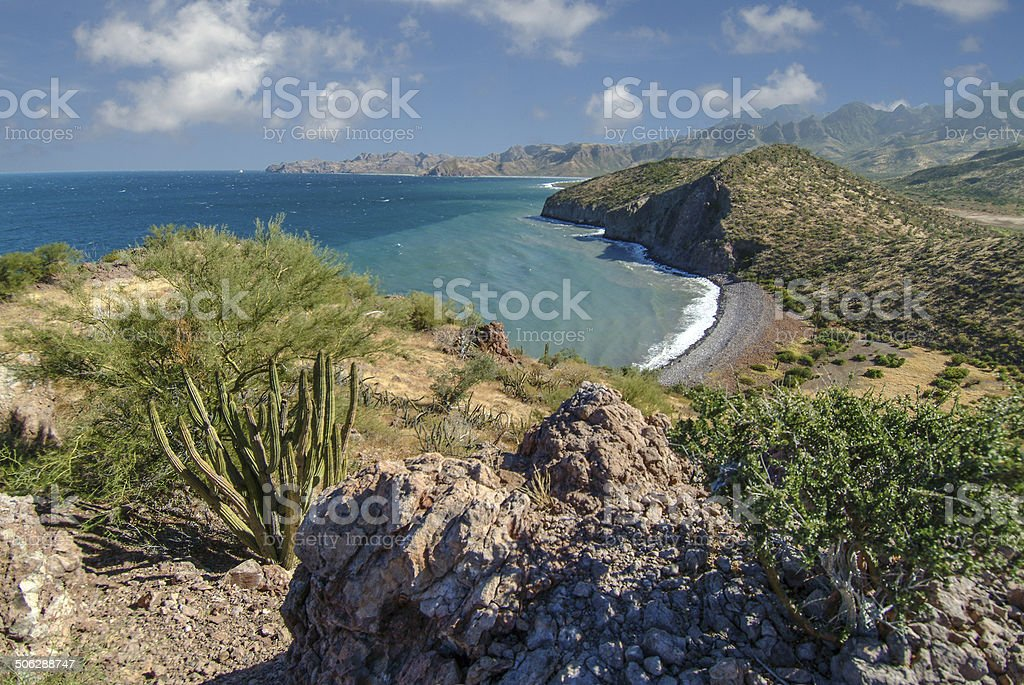 Baja Coast Afternoon stock photo