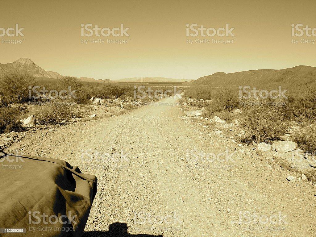 Baja Freeway royalty-free stock photo
