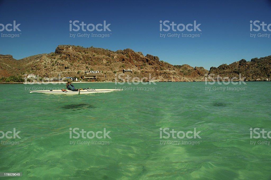Baja Kayaker stock photo