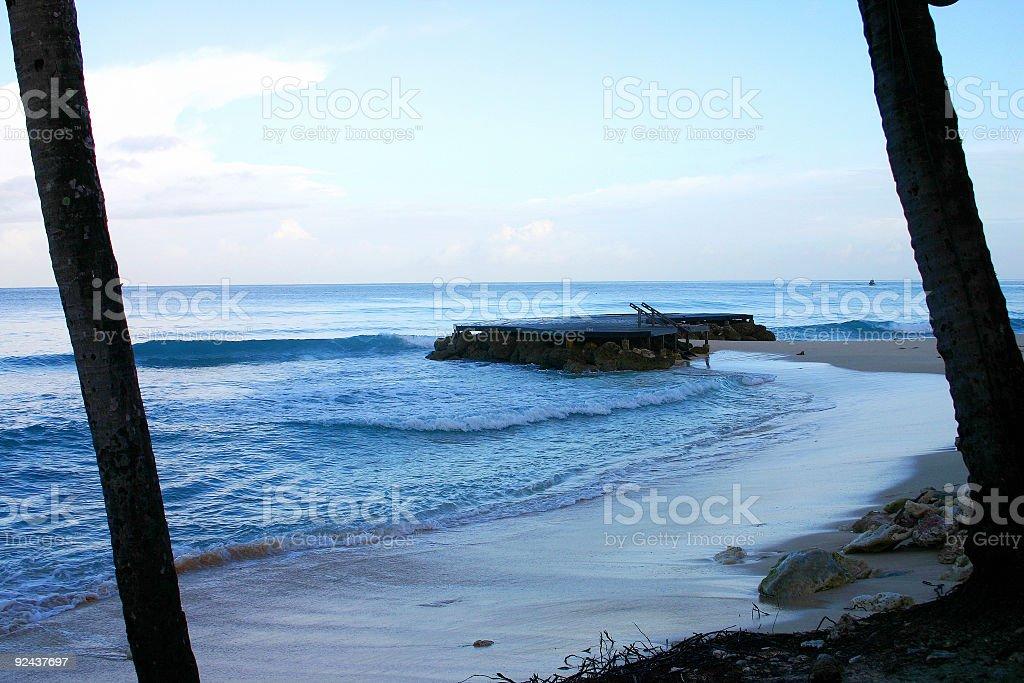 Bajan Beach royalty-free stock photo