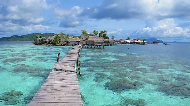 Bajo village, Togean Islands, Indonesia stock photo