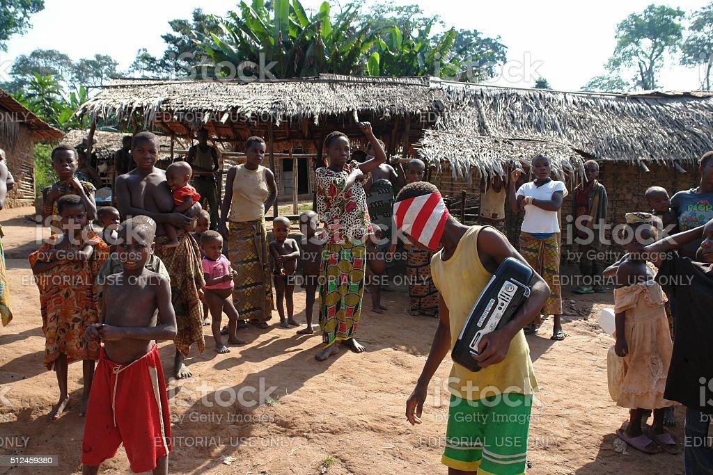 Baka village stock photo