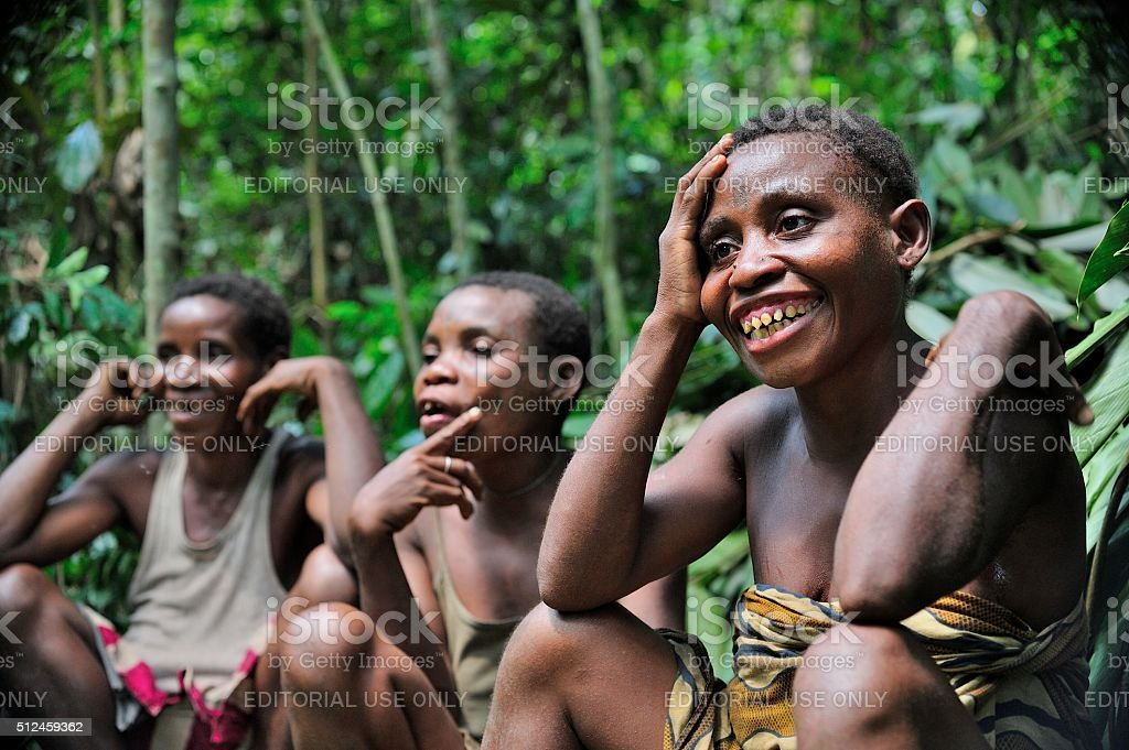 Baka women stock photo