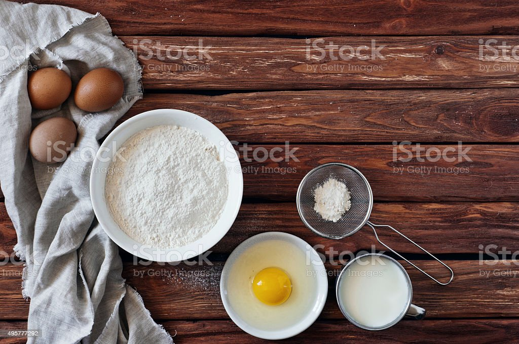 Bake ingredients stock photo