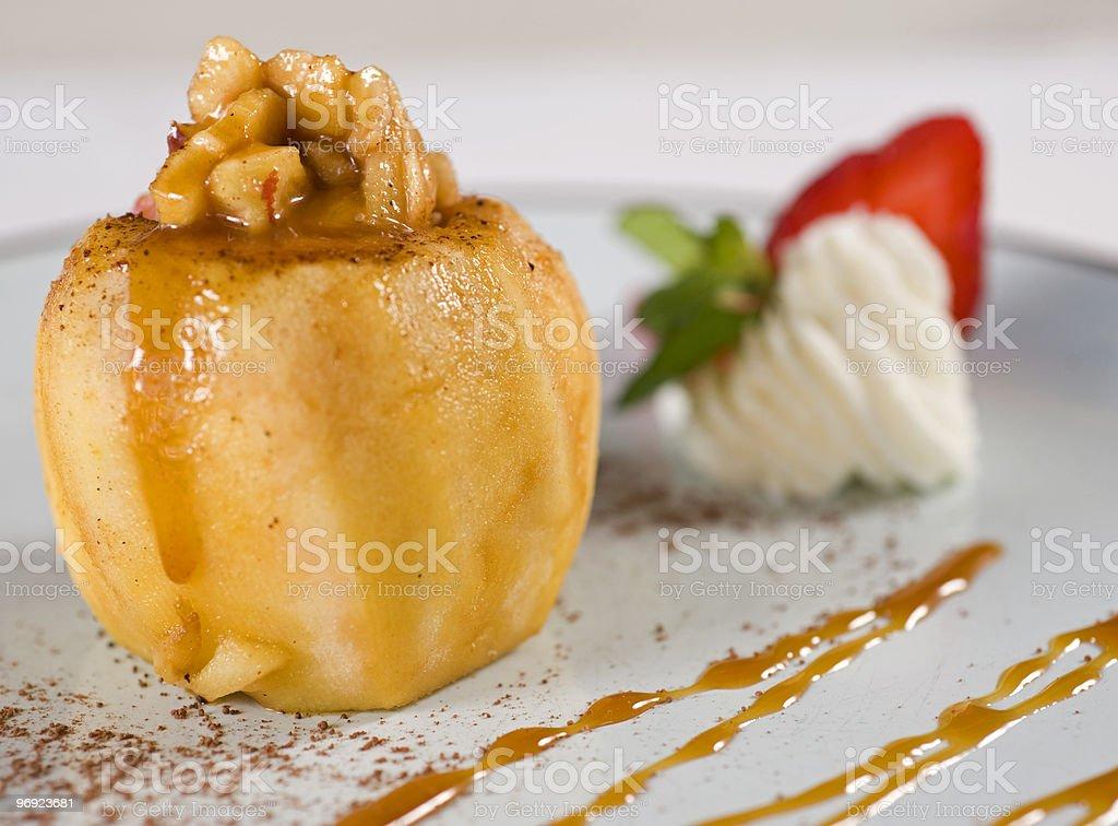 Baked apple dessert royalty-free stock photo