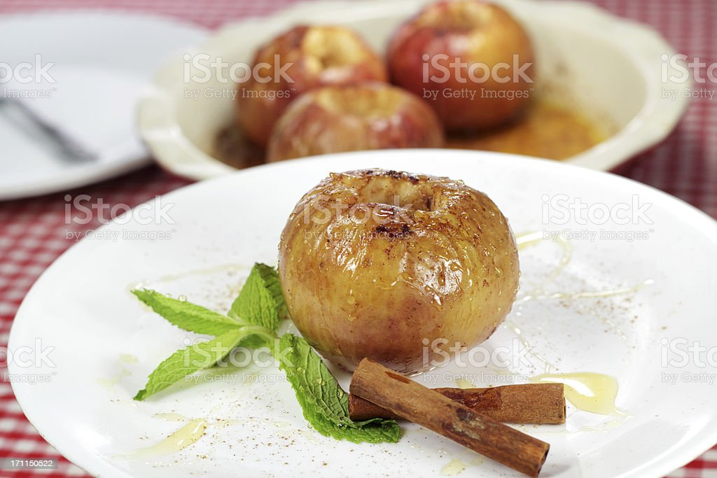 Baked Apple royalty-free stock photo