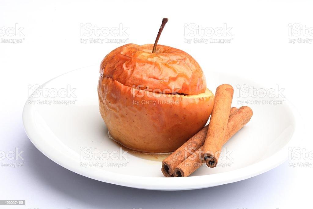 Baked apple stock photo