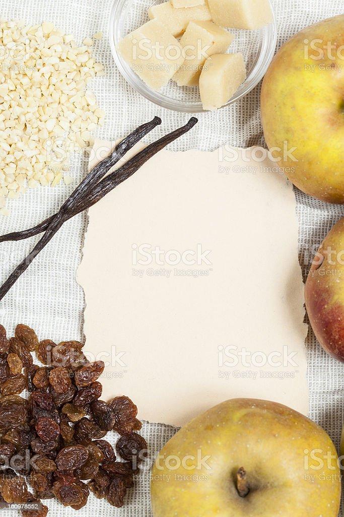 Baked Apples recipe royalty-free stock photo