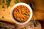Baked Barbecue BBQ Texas Style Beans for Dinner or Lunch plated Food Photography