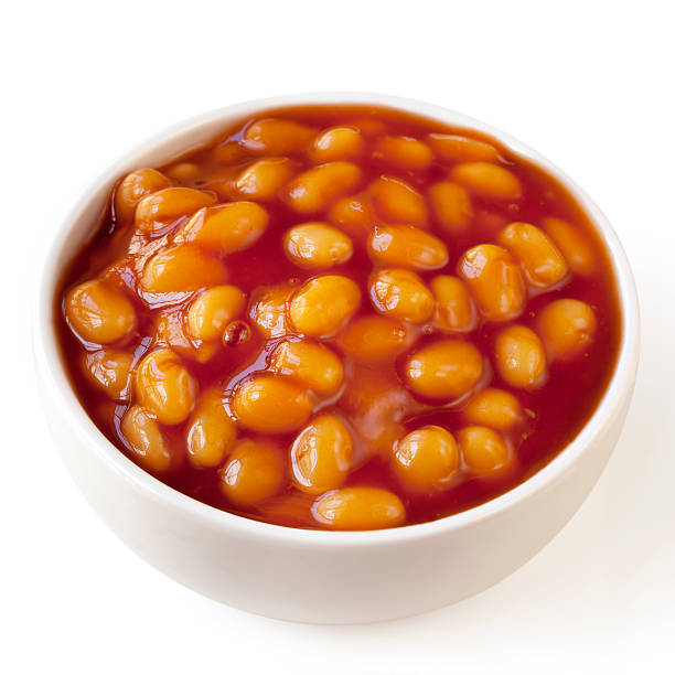 Baked Beans Isolated stock photo