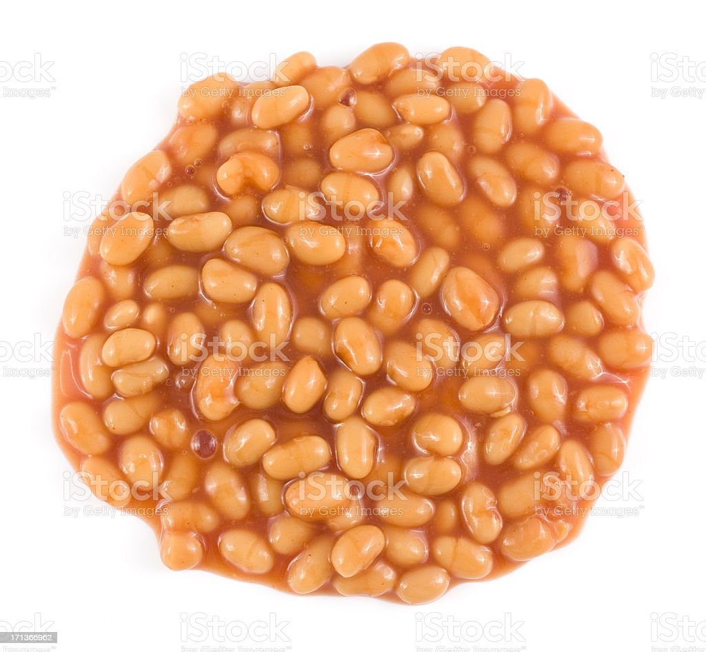 Baked Beans on a white background stock photo