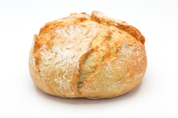 Gebackenes Brot isoliert auf weißem Hintergrund – Foto