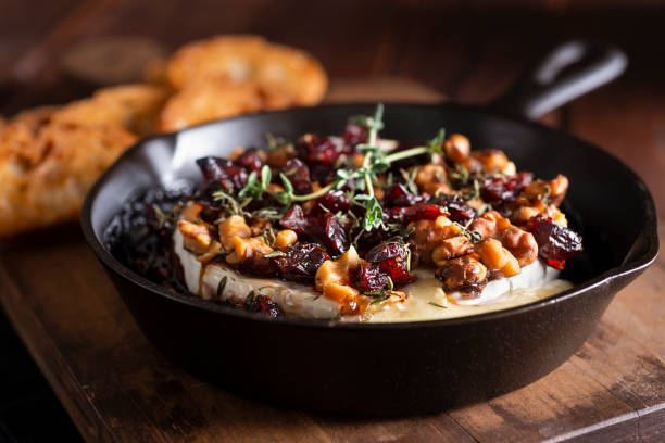 Baked Brie stock photo