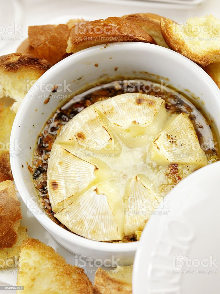 Baked Brie royalty-free stock photo