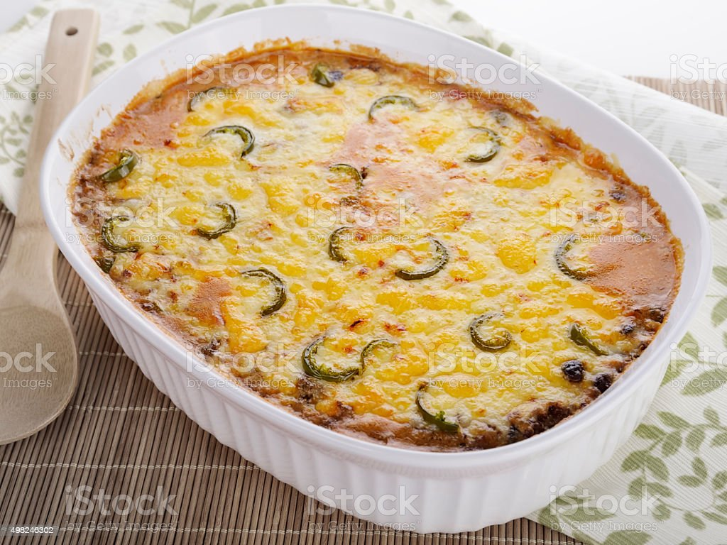 Baked Casserole Dish royalty-free stock photo