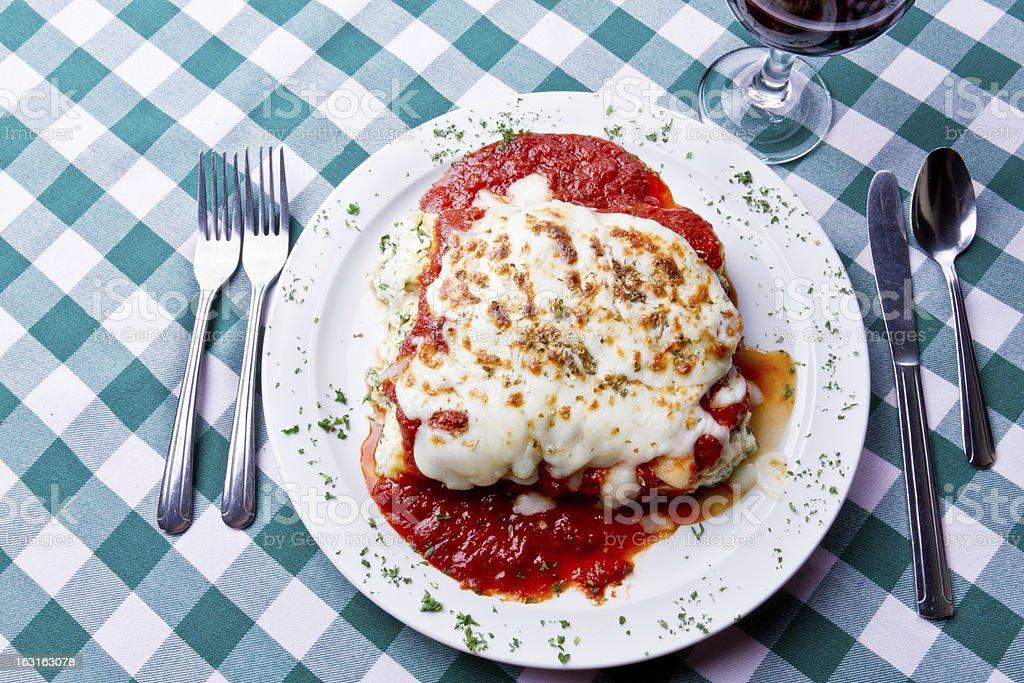 Baked Cheese Manicotti Florentine royalty-free stock photo