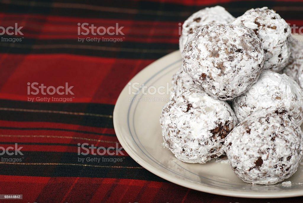 chocolate Kokosnuss-SCHNEEBÄLLE Lizenzfreies stock-foto