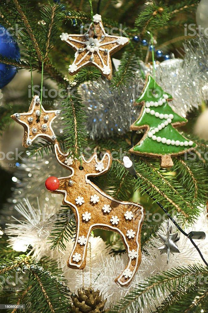 Baked Christmas tree decoration royalty-free stock photo