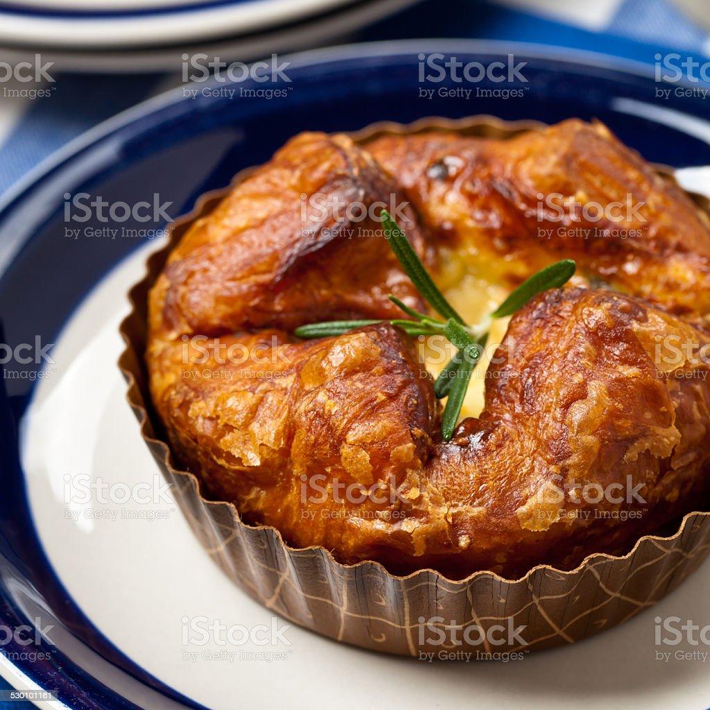 Baked Egg Souffle stock photo